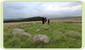 Penhurrock Cairn Circle. Funerary site, possibly post-battle?
